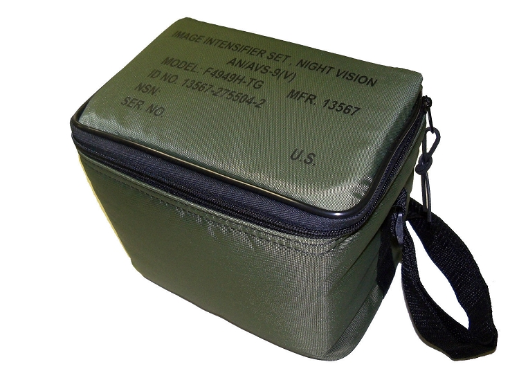 AN/AVS-9 F4949 and M949 AVS-6 ANVIS Night Vision Green Carrying Case with Foam
