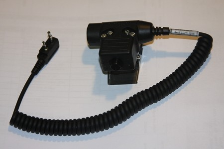 Headset Adapter with PUSH-TO-TALK for ICOM A-6, A-14, A-24 and the New A-25